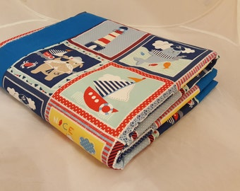 Baby Blanket - Baby Comforter - Baby Quilts - Toddler Blanket - Toddler Comforter - Toddler Quilts - Light House Sailor Friends *R14*