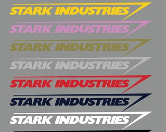 """Iron Man Stark Industries Vinyl Decal • Car, Truck, Van Or Boat Window Sticker • Extra Large Sizes Available! • From 4"""" to 18"""" & 9 Colors"""