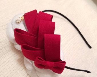 Red big bow headband fashion chic for women beautiful and cute headband hair accessories