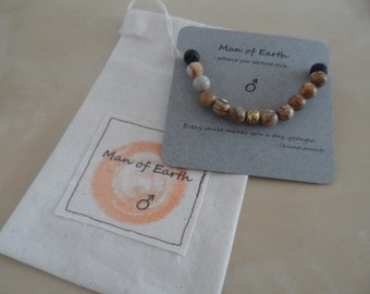 Man's Stylish Gemstone Bracelet from my new 'Man of Earth' range