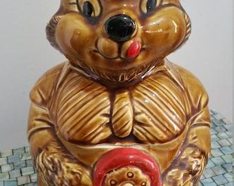 Mama Bear Cookie Jar. 1950's Japan.