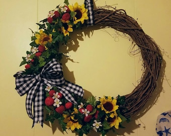 Summer Strawberries Wreath