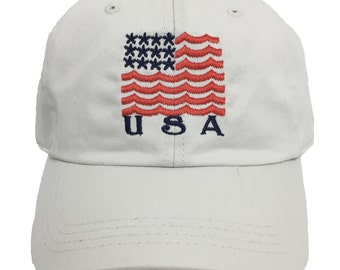 Limited Edition Team USA White Hat // Summer Olympics Hat // American Flag Hat