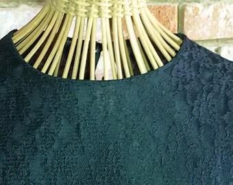Blouse, blouse retro Black Lace size 40 / French Vintage