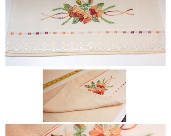 Hand embroidered decorative towels