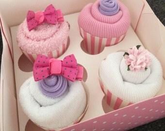 Baby cupcake gift box - Nappy Cake