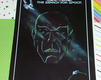 Vintage 1984 Star Trek III The Search for Spock Movie Program (COVER ONLY)