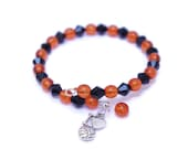I Love Volleyball Bracelet - Volleyball Jewelry for Moms - Sport Gifts for Mom - Beaded Charm Bracelet - Bracelet Personalized - Team Spirit
