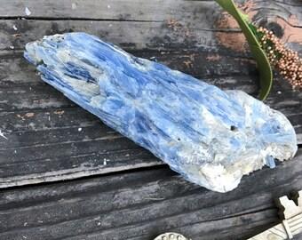 Blue kyanite and quartz w/ garnet inclusions