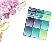 SBC July Habits Trackers -- Matte Planner Stickers
