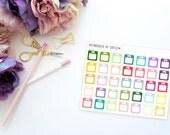 Mini Scales -- Matte Planner Stickers