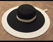 Black and White Glamorous Sun Hat