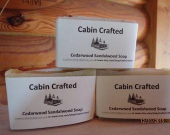 Bar Soap Handcrafted Vegan-Cedarwood Sandalwood