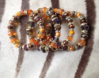 Amber Beaded Bracelets.