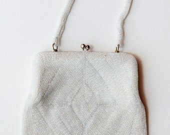 Fully Beaded Clutch Evening Purse-- Hand Made in Korea