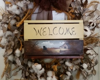 Cotton Welcome Wreath