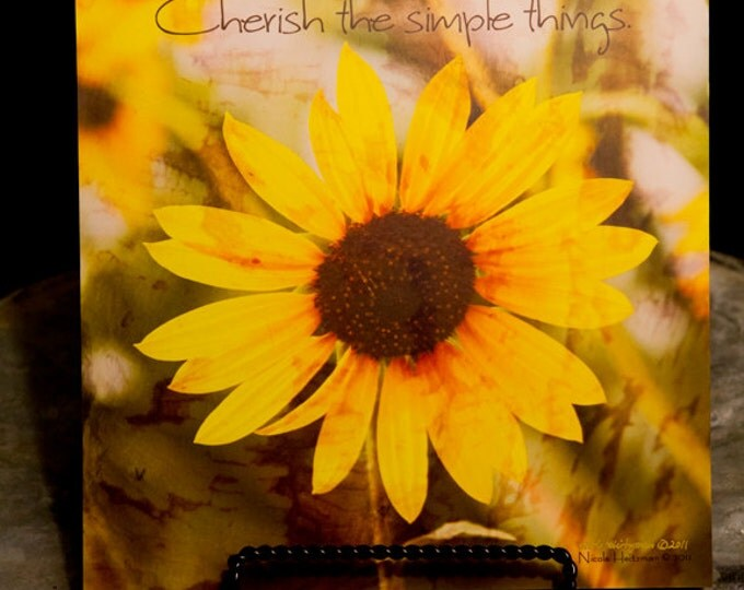 Sunflower Photo Sunflower Photography Sunflower Decor Flower photo Flower Decor yellow flower Gift for her Photography by Nicole Heitzman