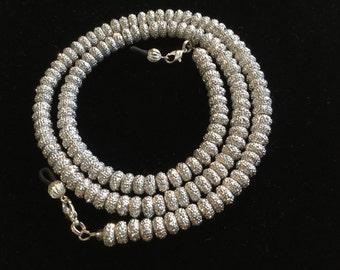 Sparkling Silver Eyeglass Chain