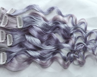 Silver Opal Human Hair Extensions, Clip In Hair Extensions, Silver Hair, Hair Extensions, Ombre Hair, Pastel Hair