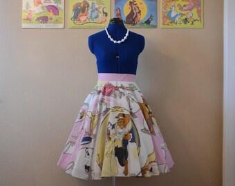 Beauty & Beast Circle Skirt
