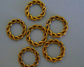 Gold Closed Rings (6)
