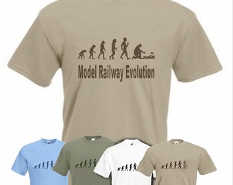 Evolution to Model Railway t-shirt Funny Train T-shirt sizes S TO XXL