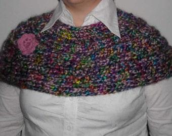 Pink flower wool wraps