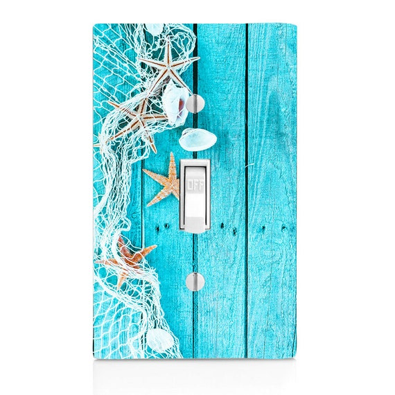 beach decor light switch cover starfish seaside bathroom
