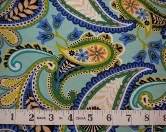 1 YD - Serenity (paisley) by Exclusively Quilters