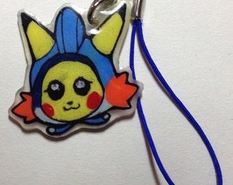 Mudkip Kigurumi Pikachu Phone charm