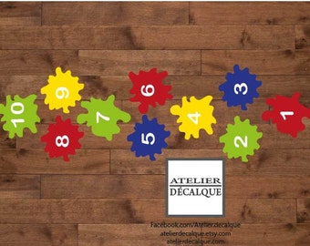 Wall Sticker no. E- 024 - Hopscotch Games - Decal child