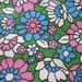 Vintage Flower Power Contact Paper, Turquoise Pink Bold Floral Contact Paper BTY