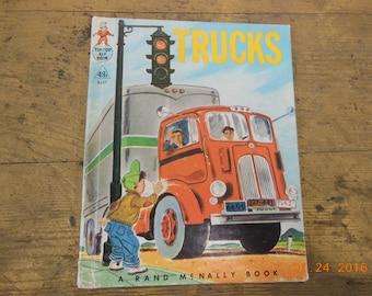Trucks vintage childrens book