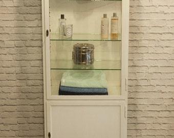 Single vintage medical cabinet 1960's