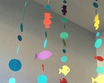 Mermaid Garland, Mermaid Decorations, Mermaid Decoration, Mermaid Birthday, Mermaid Party, Mermaid Decor, Custom Parties by PartyAtYourDoor