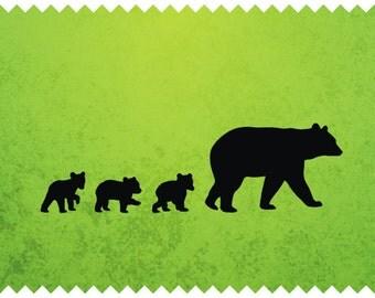 Bear Cub Silhouette Etsy