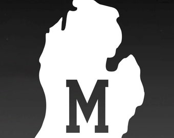 Michigan vinyl car decal - u of m decal - michigan vinyl decal - mitten decal - mitten state - Vinyl decal for car - Truck decal