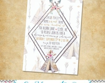 Boho Housewarming Shower Invitations {deposit}