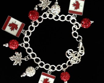 No.2 Canadian Themed Charm Bracelet