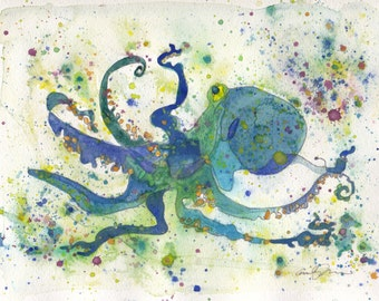 Blue Octopus PRINT