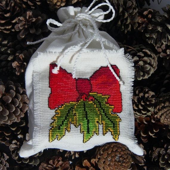 Linen Christmas bag hand made