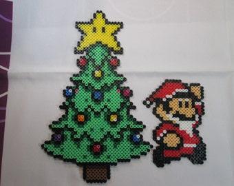 Super Mario Christmas Perler Set