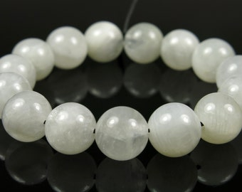Pure Beauty ~ 8mm Quality Natural White Moonstone Round Bead - 15 beads - #CR5022