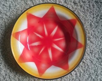 Vintage plate, enameled plate made in Yugoslavia