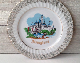 Vintage Disneyland Souvenir Plate