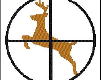 Deer Hunting Embroidery Design