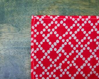 Square Variation Red and White Polka Dot