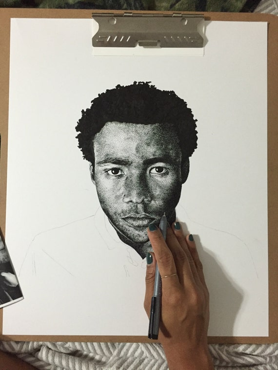 Childish Gambino Kanye West special commission for Alicia