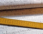 Sheet Music Notes Symphony by Tim Holtz Eclectic Elements Cotton Fabric per Fat Quarter FQ