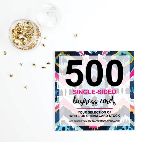 500 Single Sided Business Cards